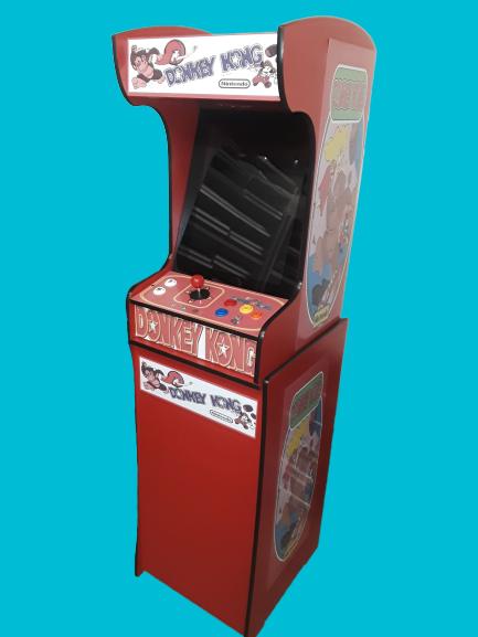 Red Video Arcade Machine Stand
