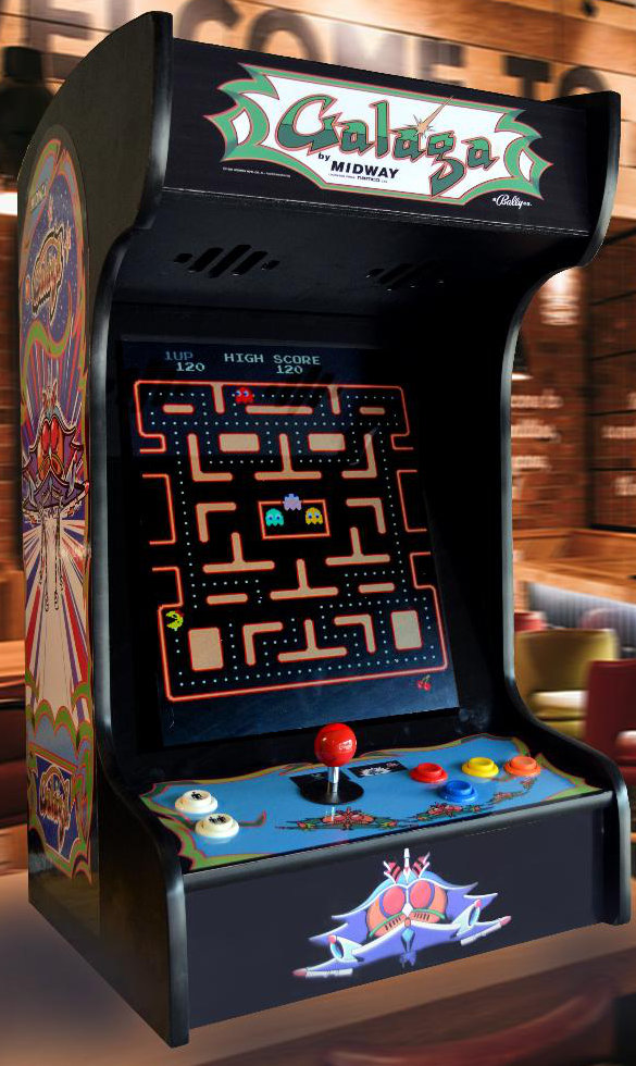 Arcade Machine Black Galaga Tabletop with 412 Classic Games – Free Shipping