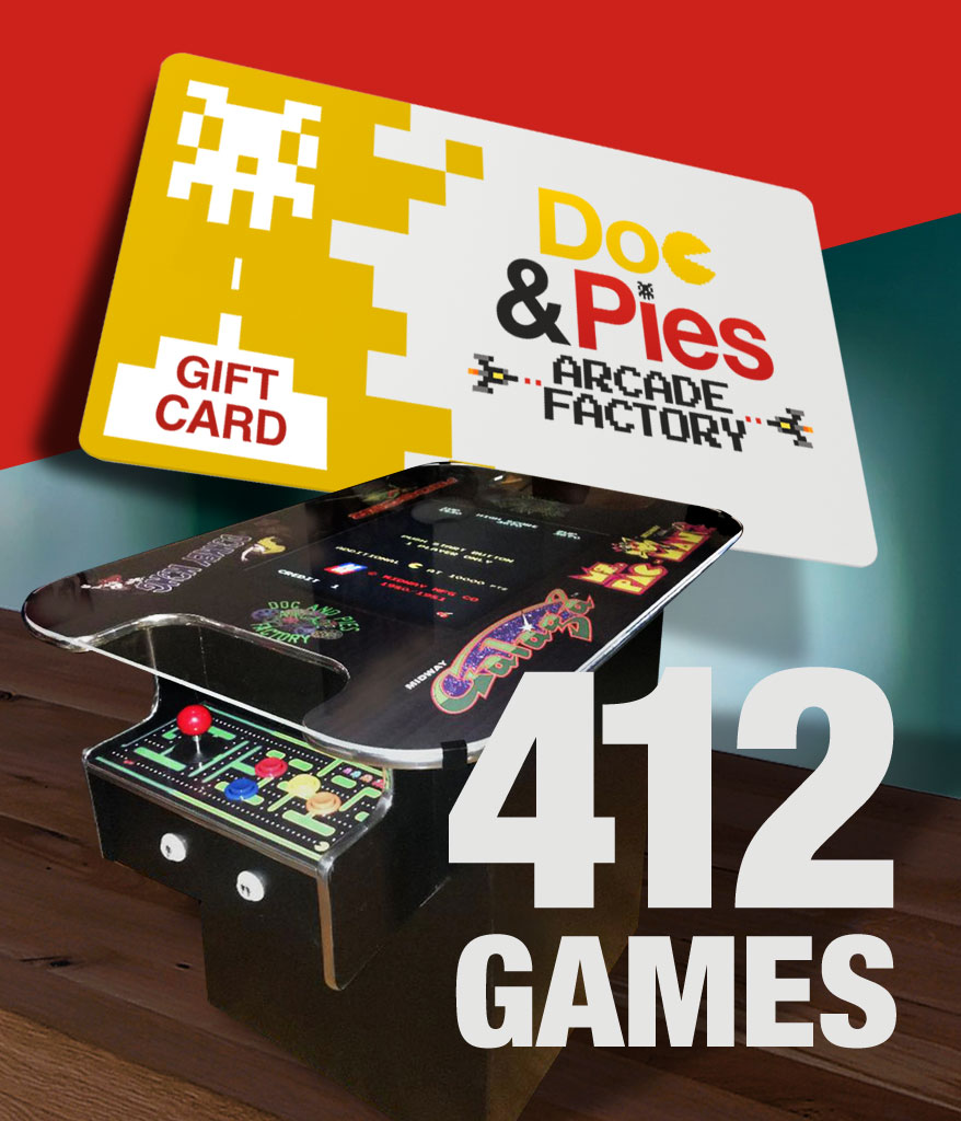 Cocktail Arcade Machine 412 Games Gift Card