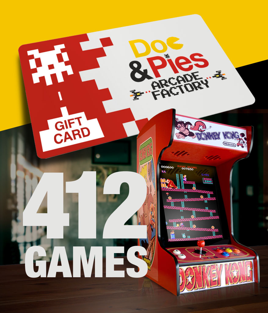 Tabletop Arcade Machine 412 Games Gift Card