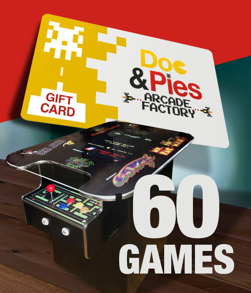 Cocktail Arcade Machine 60 Games Gift Card