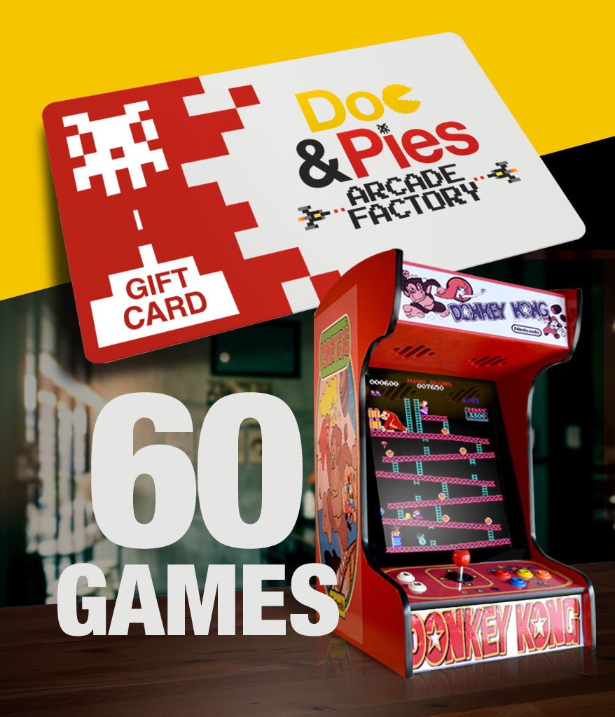 Tabletop Arcade Machine 60 Games Gift Card